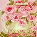 Rose Garden Tea on Pink by Ro Gregg- BACK IN STOCK!