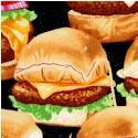 Snack Attack - Juicy Sliders on Black