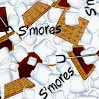 Go a-Camping - S'Mores on White by Possibilities