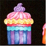 Sweet Things - Vertical Cupcake Stripe