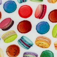 Sweet Tooth - Tossed Macarons on Ivory