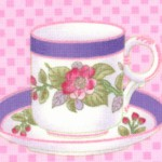 Sausalito Cottage - Delicate Teacups and Saucers on Pink