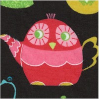 Sweeties - Whimsical Teapots on Black