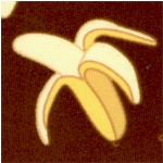 Coconut Grove - Tossed Bananas on Brown by Bella Lu Studio