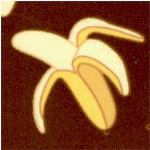 Coconut Grove - Tossed Bananas on Brown by Bella Lu Studio