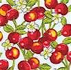 Tiny Delights Cherries on White