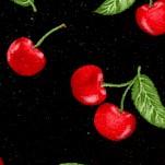 Kiss the Cook - Cherries on Black