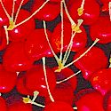 Farmer's Market - Tossed Cherries on Black