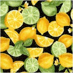 Farmer John�s Garden - Mini Lemons and Limes on Black