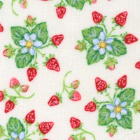 Country Days - Tossed Wild Strawberries on Ivory