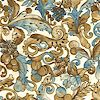 Shades of the Season - Berries  Grapes and Flourishes on Cream-  SALE! (MINIMUM PURCHASE ONE YARD) (