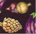 Farmer's Market - Tossed Vegetables on Black- LTD. YARDAGE AVAILABLE