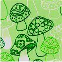 Froggies - Mushrooms in Green