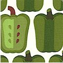 Veggie Patch - Green Peppers in Rows by Hoodie's Collection