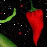 Salsa Picante - Tossed Hot Peppers on Black