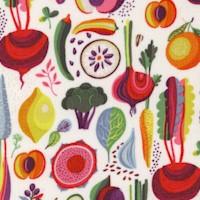 Floribunda - Fruits and Vegetables on Ivory by Helen Ardik