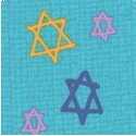 Hallmark Collection - Tossed Stars of David on Linen-Look Texture #4