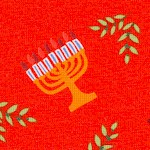 Hallmark Collection - Menorah Allover on Red
