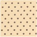 Seneca Shirtings - Petite Star of David in Brown on Tan by Jo Morton