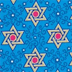 Star of Peace #1 - Gilded Stars of David on Blue