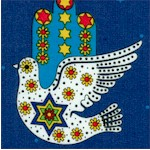 The Dove of Peace on Blue