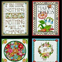 'Mottos To Live By' Panel by Mary Engelbreight - SALE! SOLD BY THE FULL PANEL ONLY