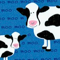 Barnyard Counting - Whimsical Cows on Blue