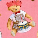 Teddy Bears - Adorable Tossed Bears on Pink