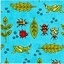 Meadow Friends - Insects and Greenery by Deb Strain - SALE! (MINIMUM PURCHASE 1 YARD)