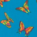 Bright Spirit - Brilliant Butterflies on Turquoise