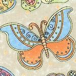 Butterfly Garden - Tossed Butterflies in Pastels
