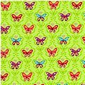 Butterfly - Gilded Small Scale Butterflies on Green