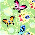 Bubbles and Butterflies - Medium Scale Butterflies #2 by Beverlyann Stillwell