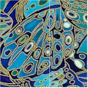 Exotic Gilded Butterfly Wings in Blue