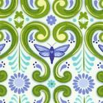 Grace - Art Nouveau Style Butterfly Floral (ART-butterfly-U830)