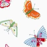 Flutterby - Delicate Butterflies on Ivory