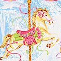 Carousel Dreams - Carousel Vertical Stripe by Cynthia Coulter