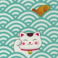 Sushi - Lucky Cats, Fish and Waves