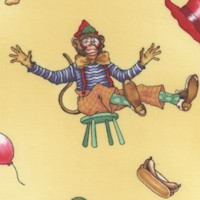 Circus Menagerie - Tossed Whimsical Monkeys by J. Wecker Frisch