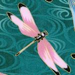 Lotus in Springtime -Elegant Gilded Dragonflies