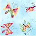 Wishes and Dreams - Tossed Butterflies by Melissa Saylor