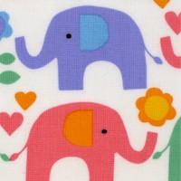 Small Sale Colorful Elephants on Ivory
