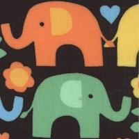 Small Sale Colorful Elephants on Black