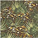 Floral Safari  - Jungle Leaves and Hidden Tigers