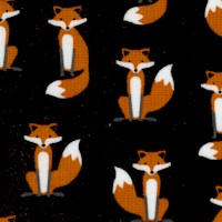 Andie's Minis - Small Scale Foxes on Black