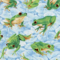Frolicking Field - Tossed Frogs on Lily Pads