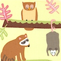 Frolic - Forest Animal Collage  #2 by Wendy Slotbloom