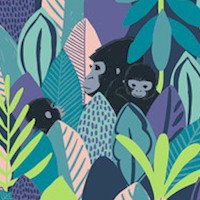 Bwindi Forest - Handsome Gorillas and Foliage by Katy Tanis
