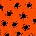 Pumpkin Patch - Spiders on Orange