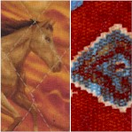 Reversible Quilted Round Up - Wild Horses and Southwest Motifs